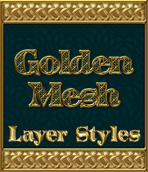 Golden Mesh Layer Styles 2D Merchant Resources fractalartist01