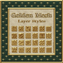 Golden Mesh Layer Styles image 4