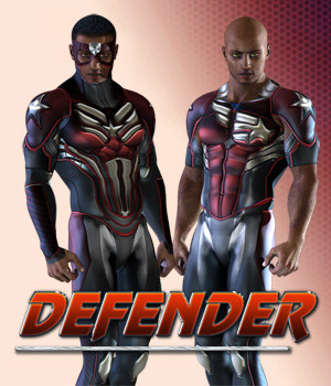 Defender 3D Figure Assets shaft73