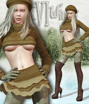 Hot Winter VI 3D Figure Assets Pretty3D