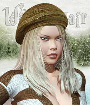 Winter Hair (With Cap) 3D Figure Assets Pretty3D