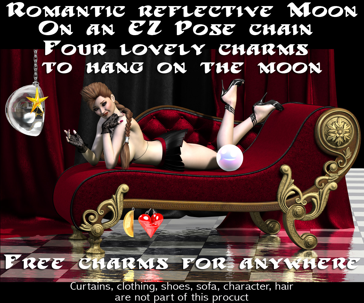 Chained Moon with Charms