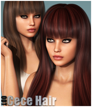 Cece Hair and OOT Hairblending 3D Figure Assets outoftouch