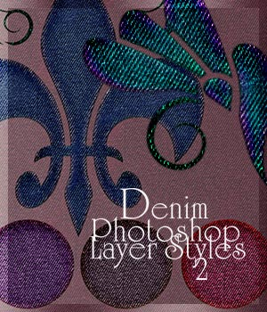Denim Photoshop Layer Styles 2 2D Graphics Merchant Resources antje