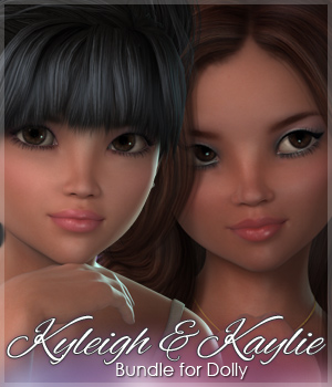 Sabby-Kaylie and Kyleigh for Dolly 3D Figure Assets Sabby