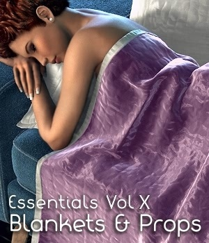 Essentials Vol X Blankets and Props 3D Figure Assets 3D Models fabiana