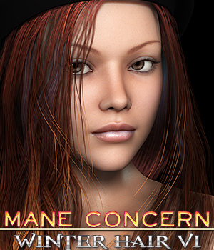 Mane Concern: Winter Hair VI 3D Figure Essentials 3DSublimeProductions