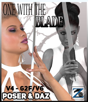 Z One With The Blade - V4-G2F/V6 3D Figure Essentials 3D Models Zeddicuss