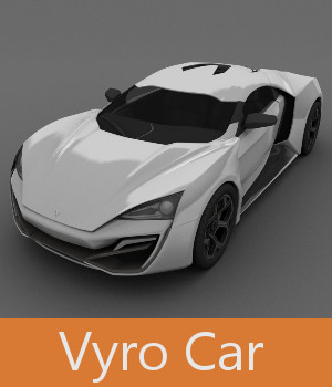 Vyro Car 3D Models TruForm