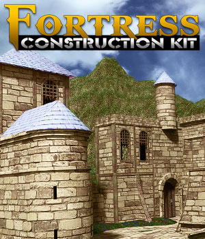 Fortress Construction Kit 3D Figure Assets 3D Models powerage