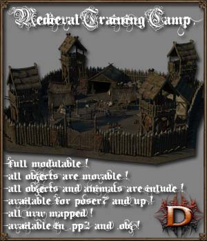 Medieval_Training_Camp 3D Models Dante78