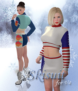 Ski Suit for V4 3D Figure Assets SY_fashion