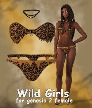 Wild Girls for Genesis 2 Female 3D Figure Essentials Gobbos