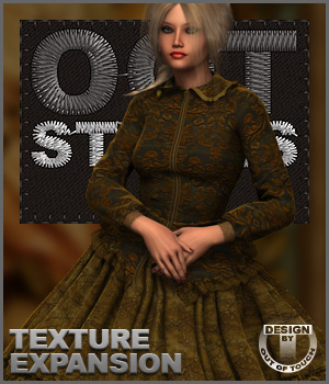 ROYAL STYLES for 1860 Crinoline Dress for Genesis 2 Female(s) 3D Figure Essentials outoftouch