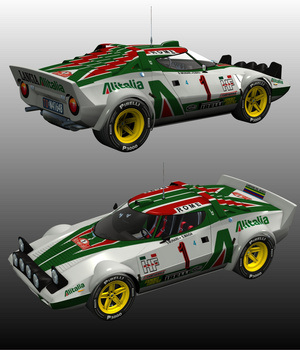 LANCIA STRATOS RALLYE MONTE CARLO 1976(for POSER) 3D Models Nationale7