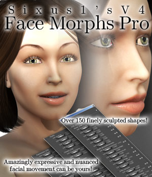 S1M: V4 Face Morphs Pro for Poser 3D Figure Essentials sixus1