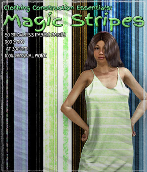 Clothing Construction Essentials: Magic Stripes 2D Graphics Merchant Resources ShaaraMuse3D