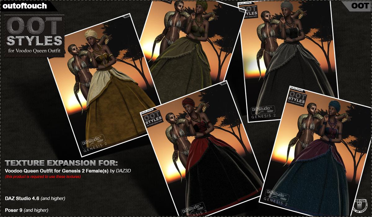 OOT Styles for Voodoo Queen Outfit for Genesis 2 Female(s)