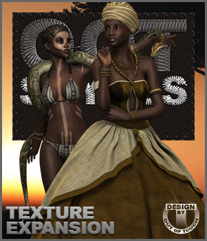 OOT Styles for Voodoo Queen Outfit for Genesis 2 Female(s) 3D Figure Essentials outoftouch