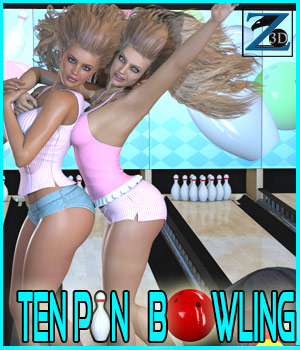 Z Ten Pin Bowling + Poses 3D Figure Essentials 3D Models Zeddicuss
