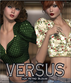 VERSUS - Retro Blouse  3D Figure Essentials Anagord