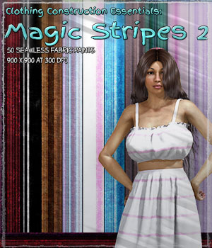 Clothing Construction Essentials: Magic Stripes 2 2D Graphics Merchant Resources ShaaraMuse3D