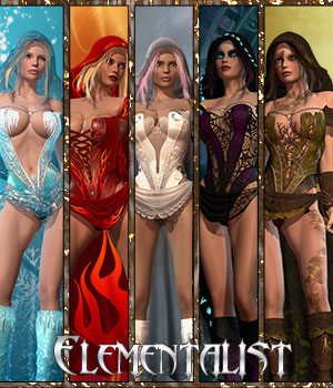 Elementalist for Wizard 3D Figure Assets catatonia72