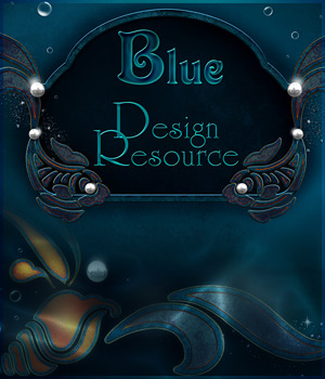 Blue 2D Graphics antje