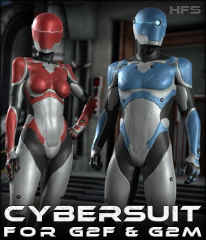 HFS Cybersuit for G2F & G2M 3D Figure Assets DarioFish