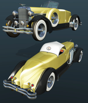 DUESENBERG J (for VUE) 3D Models Nationale7
