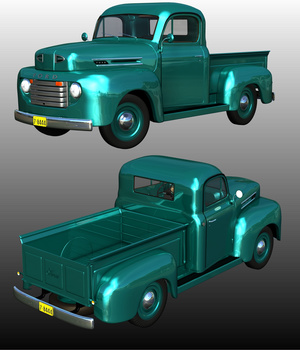 FORD F100 1950 - for POSER  3D Models Ourias3D