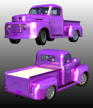 FORD F100 1950 Hot Rod (for POSER) 3D Models Nationale7