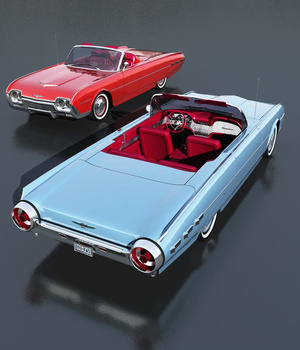 FORD THUNDERBIRD SPORTS ROADSTER 1962 (for VUE) 3D Models Software Nationale7