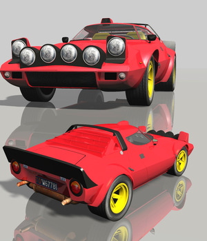 LANCIA STRATOS (for VUE) 3D Models Nationale7