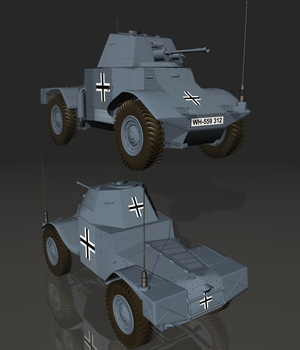 PANZERSPAHWAGEN (forVUE) 3D Models Software Nationale7