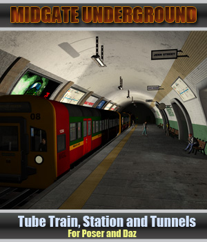 Midgate Underground Tube Station by Simon-3D