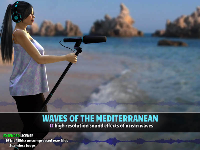 Waves of the Mediterranean - Extended License by ShaaraMuse3D