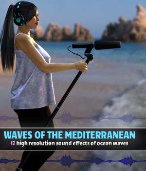 Waves of the Mediterranean - Extended License Gaming Merchant Resources ShaaraMuse3D
