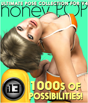 i13 honey POP pose collection for V4 3D Figure Essentials ironman13