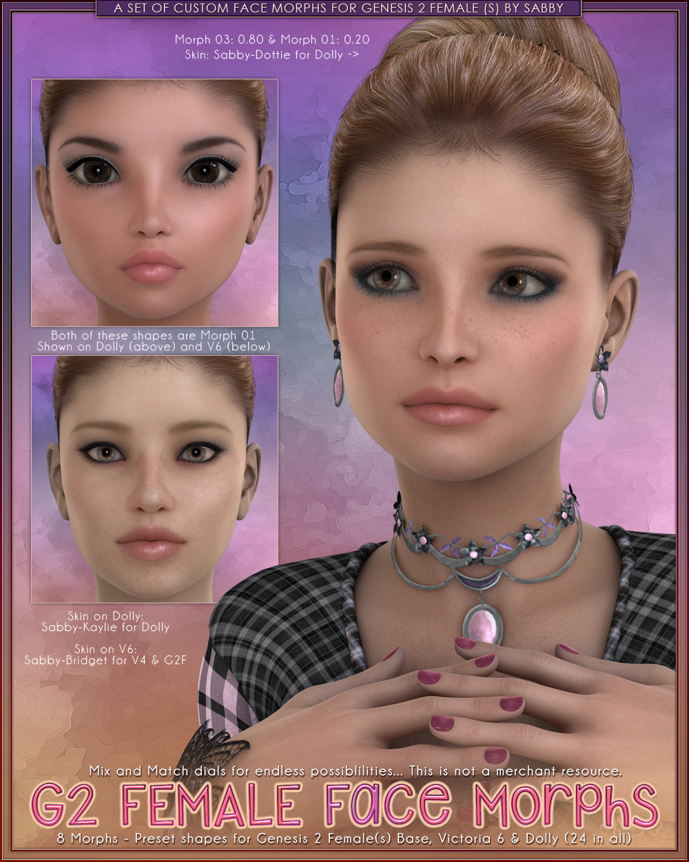 Genesis 2 Female Faces by Sabby