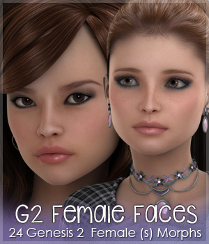Genesis 2 Female Faces by Sabby 3D Figure Assets Sabby