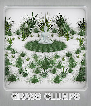 Grass Clumps 3D Models whitemagus