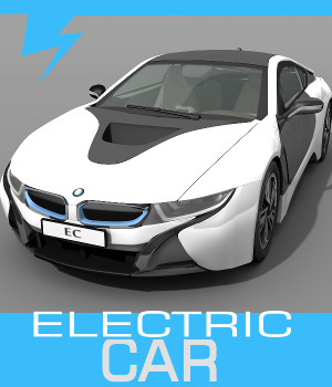 Electric Car 3D Models TruForm
