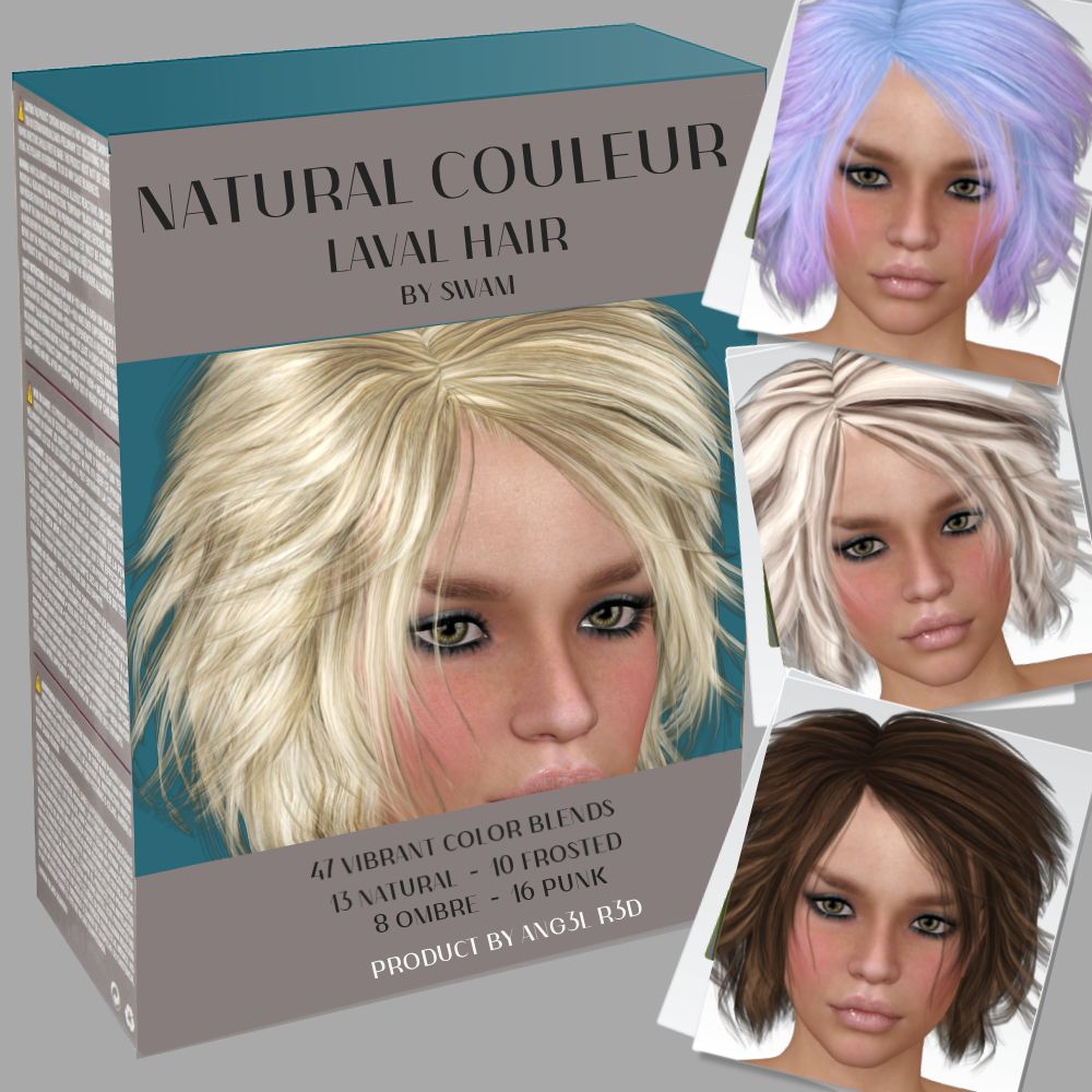 Natural Couleur for Laval Hair by ANG3L_R3D