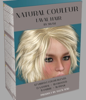 Natural Couleur for Laval Hair 3D Figure Assets ANG3L_R3D