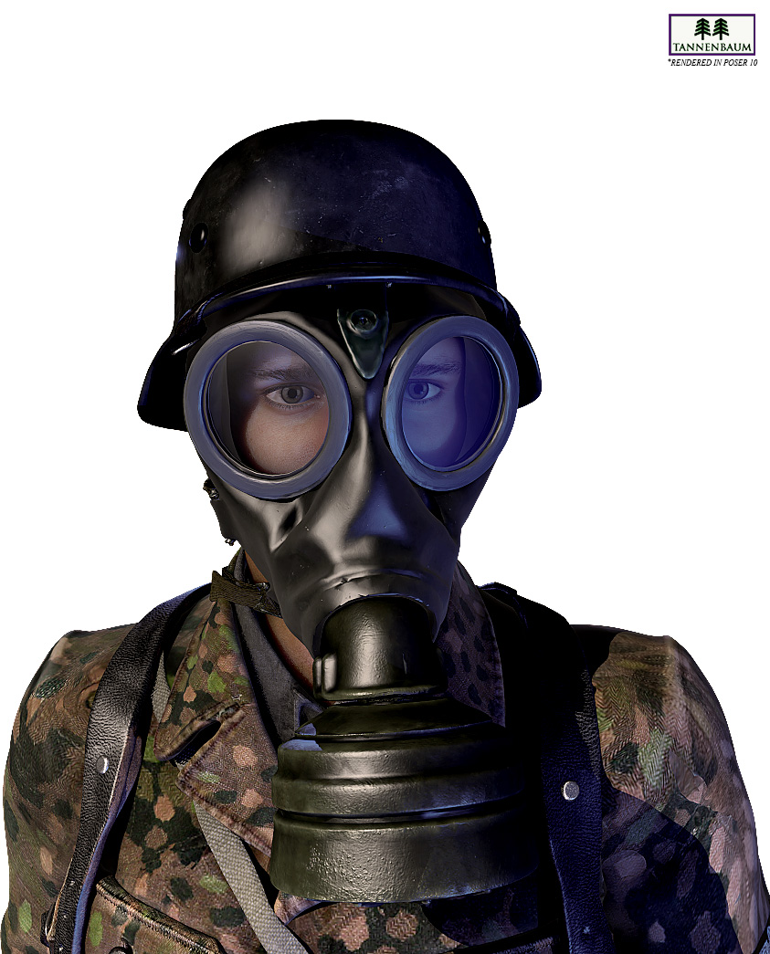 German Gas Mask 3d Models Tannenbaum