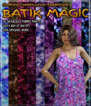 Clothing Construction Essentials: Batik Magic 2D Graphics Merchant Resources ShaaraMuse3D