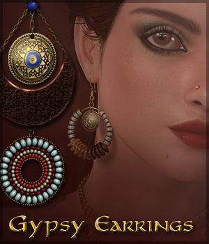 SV's Gypsy Earrings 3D Figure Essentials Sveva