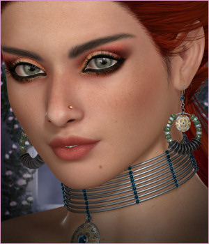 Dazzle for Gypsy Earrings 3D Figure Essentials -Wolfie-