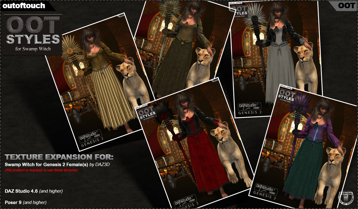 OOT Styles for Swamp Witch for Genesis 2 Female(s) by outoftouch
